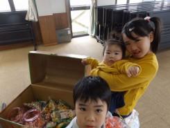 宝箱の中には、お菓子がいっぱい♪