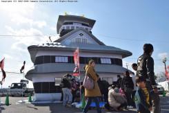 「水口岡山城」の」エアバルーンは子ども達に大人気。バルーンの中は広々としていて、跳ねたり走り回って楽しんでいた