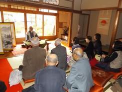 西村恵信氏(元花園大学学長)の講話。老後に大切な4つの事。お金・健康・友達・趣味