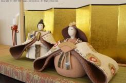 明山窯のひな人形は、細部まで ひとつひとつ丁寧に手作りされている