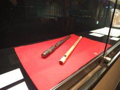 水口歴史民俗資料館に展示されている横笛