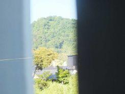 山頂に佐和山城が見えていた