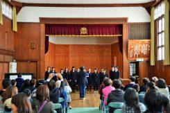 高校生合唱部の歌声が会館に澄み響きわたる♪