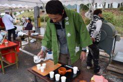 朝宮茶の試飲コーナー
