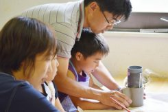 親子で協力しながら作る