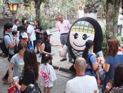 甲賀市のゆるキャラ「にんじゃえもん」も大人気