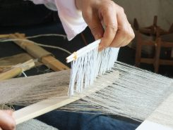 位の高い人ほど細い糸を使い、目の細かい布を仕立てた