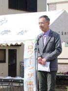 「南市の昔」の講演をした中江彰さん