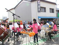 安曇川中学校吹奏楽部による演奏