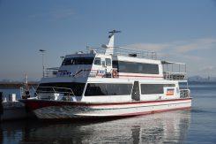 大津港より雪見船「リオグランデ号」に乗船