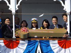 県知事や大津市長と一緒に