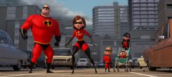 """SUPER FAMILY -- In Disney Pixar's """"Incredibles 2,EHelen (voice of Holly Hunter) is in the spotlight, while Bob (voice of Craig T. Nelson) navigates the day-to-day heroics of """"normalElife at home when a new villain hatches a brilliant and dangerous plot that only the Incredibles can overcome together. Also featuring the voices of Sarah Vowell as Violet and Huck Milner as Dash, """"Incredibles 2Eopens in U.S. theaters on June 15, 2018. ©2017 Disney•Pixar. All Rights Reserved."""
