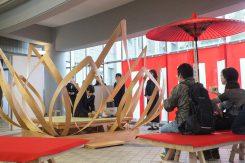 学生が考案したオリジナルの茶室