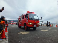 消防車両行進