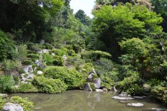 昊天禅師と小堀遠州合作の「蓬莱池泉庭」