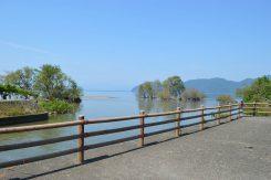 出水口から見る琵琶湖