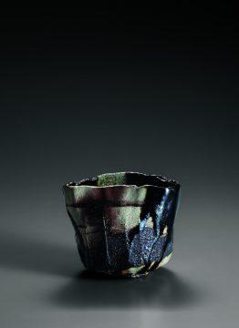 2_焼貫黒樂茶碗