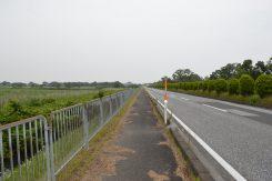 側を通る湖岸道路